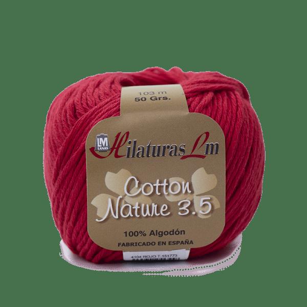 Algodon 100% para tejer Hilaturas LM 4104 Rojo