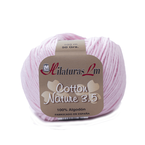 Algodon 100% para tejer Hilaturas LM 4105 Rosa Bebe