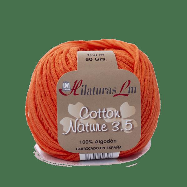 Algodon 100% para tejer Hilaturas LM 4127 Naranja Fuerte