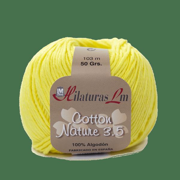 Algodon 100% para tejer Hilaturas LM 4128 Amarillo Fuerte